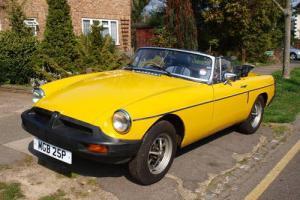 MGB Roadster Inca Yellow 1978
