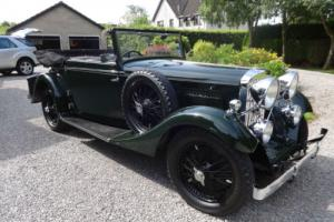 1934 Talbot 65/75 Drophead Foursome Coupe Manual
