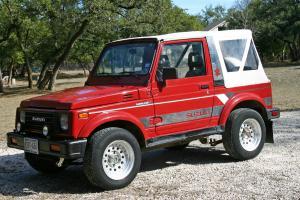 1988 red suzuki samari 4x4