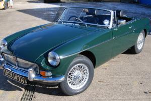 MG B Roadster, Dark BRG and silver wheels, Overdrive, History File, VGC Overall