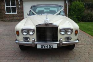 1976 WHITE ROLLS ROYCE SILVER SHADOW 1, WEDDING CAR.