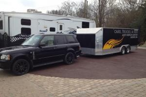 BIG TRAILER RACECAR TRANSPORTER CLASSIC ASTON FERRARI PORCSHE BENTLEY DRAG RACE  Photo