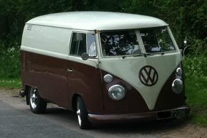 1962 VW VOLKSWAGEN SPLITSCREEN PANEL VAN CAMPER GREY/BROWN  Photo