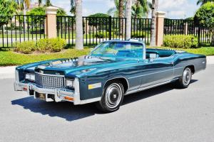 Basicly brand new just 5,922 miles 76 Cadillac Eldorado Convertible rare colors