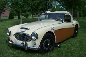 1957 Austin Healey 100-6 BN4 creme, 4 speed side shifter, rebuilt engine trans. Photo