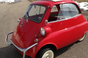 Red Restored Isetta Sunroof Model 300 cc