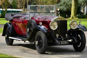 1929 Rolls Royce 20/25 Open Barrel sided tourer.  Photo