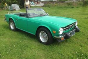 1976 Triumph TR6 Green Lhd *Solid car*