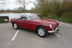 MGB ROADSTER 1974 DAMASK PROFF REPAINT 2014 EXTENSIVE RESTORATION COMPLETED 2014