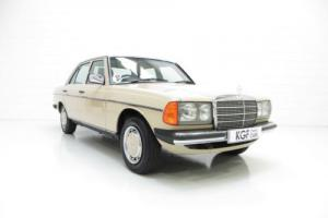 An Iconic Classic Mercedes-Benz W123 230E with Just 42,346 Miles from New.