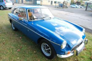 MG B GT CHROME BUMPER OVERDRIVE - very good conditon, LONG MOT, 91,000 miles