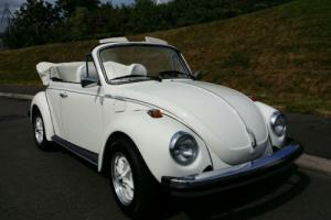 1979 (T) Volkswagen VW Karmann Beetle Convertible Triple White LHD UK REG