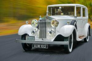 White Rolls Royce Collectors Classic Car Photo