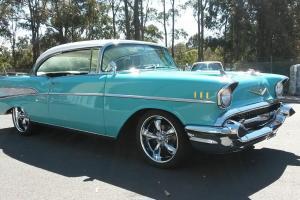 1957 Chevrolet BEL AIR 2 Door Pillarless 350 V8 T 700 Auto A C Disc Brakes