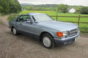 1990 MERCEDES 500 SEC 126 SERIES COUPE(blue)