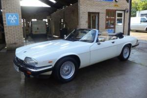 Jaguar XJ-S 5.3 V12 AUTO CONVERTIBLE in white 73K