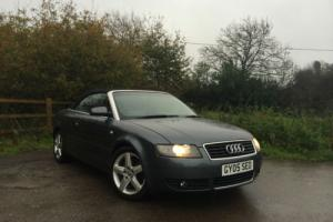 2005 Audi A4 1.8T CONVERTABLE MANUL GREY ** 1 Owner leather & sat nav **
