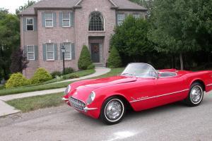 Chevrolet : Corvette 1955 Corvette 1 of 180 Red Roadster
