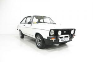 An Unrestored Ford Escort Mk2 1600 Sport with Just 11,886 Miles from New.