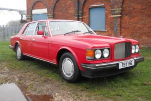 Bentley Mulsanne 6.7 Turbo. 1988. Red. White leather. Private reg.
