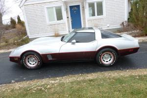Chevrolet : Corvette Silver & Maroon