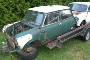 Mini Cooper S Shell Rusted Parts Only Barn Find Told IT WAS Genuine NO I D Photo