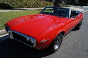 Pontiac : Firebird CONVERTIBLE 455 V8 WITH A 4SPD MANUAL TRANSMISSION