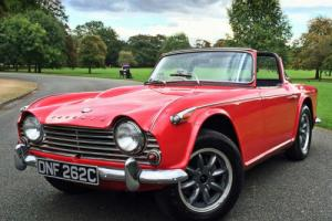 1965 Triumph TR4a IRS Surrey Top Roadster - Original UK Car Photo