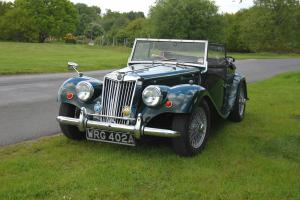 1963 MG TF Triumph Gentry in Racing Green Kit with Tan Interior