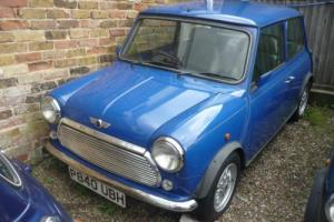 1997 Classic Rover Mini Balmoral in Electric Blue with just 27,000 miles