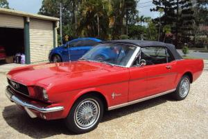 1966 Mustang Convertible Ford P Plater Chev Dodge Holden Hotrod