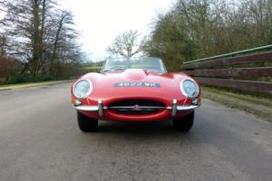 1963 JAGUAR 'E' TYPE SERIES 1 3.8 ROADSTER ORIGINAL UK SUPPLIED RED STUNNING