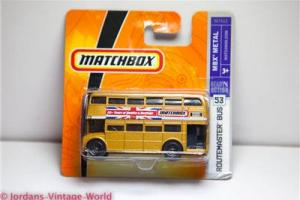 Matchbox #53 2007 DOUBLE DECKER ROUTEMASTER LONDON BUS - BRAND NEW M7412