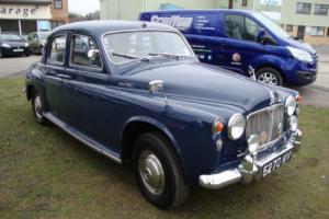 Rover 100 2.6 blue classic car 1960 LONG MOT 03/2016,history, leather, chrome