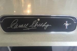 1965 1966 Mustang Glove BOX Signed BY Carroll Shelby Photo
