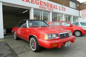 Dodge CONVERTIBLE 600 1986