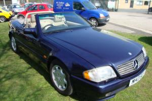Mercedes SL 500 convertible metallic blue full leather LOTS OF FACTORY UPGRADES