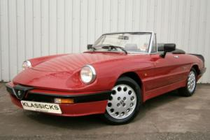 1989 ALFA ROMEO SPIDER 2.0 S3 RHD ***ONLY 41,000 MILES***