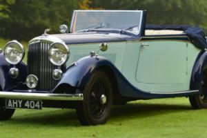 1934 Park Ward Derby Bentley 3 1/2 litre drop head coupe.