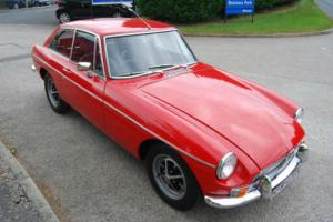 MG B GT red CHROME BUMPER, stunning, low mileage, history, MOT, 65,000 miles