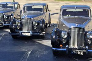 3 X Bentley Mark 6 Saloon Sedan 1949 1950 1952 Models Silver MK6 Mkvi Mark VI in NSW Photo