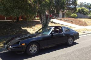 Black Datsun Nissan 280ZX 1981 Targa TOP Ideal AS Project OR Wrecking CAR in VIC Photo