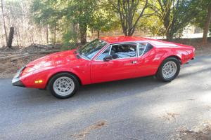 1973 Detomaso Pantera l model Red with Black leather seats
