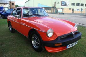 MG B GT vermillion red LONG MOT 07/2016 chrome oversills drives well
