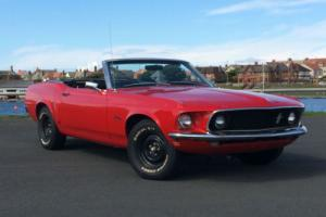 1969 Ford Mustang 302 5.0 V8 Auto Convertible Red