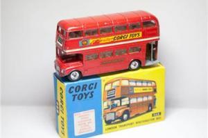 Corgi 468 London Transport Routemaster Bus Boxed - Vintage Original Diecast OLD Photo