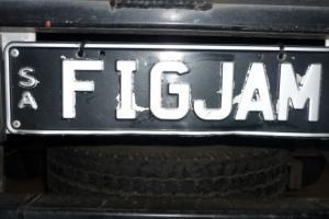 Figjam Number Plate SA