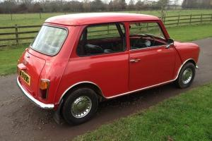 1978 CLASSIC MINI 850. RED, 1 OWNER, 25940 GENUINE MILEAGE FROM NEW
