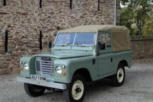 "Land Rover Series 3 88"" 1980 Pastel Green Soft Top Refurbished"