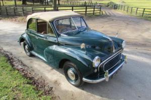 1955 Morris Minor Green Convertible